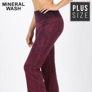 Zenana Mineral Wash Yoga Pants